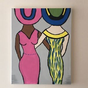 Painting: Two Ladies. One question. Brunch Anyone?